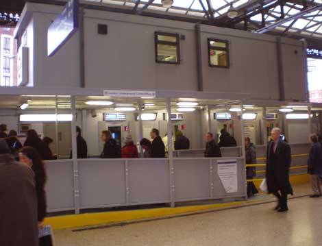 temporary ticket offices